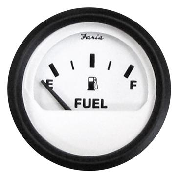 Indicateur de niveau d'essence série Euro blanc FARIA