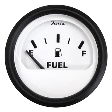 FARIA Euro White Series Fuel Level Gauge