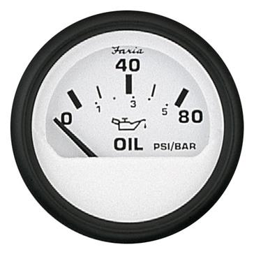 FARIA Euro White Series Oil Pressure Gauge