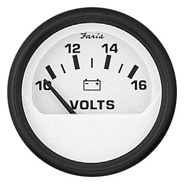 FARIA Euro White Series Voltmeter