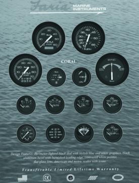 FARIA Coral Series Speedometer