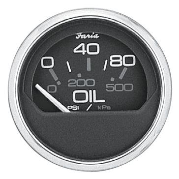 Manomètre à pression d'huile en acier inoxydable série Chesapeake noir FARIA