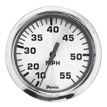 FARIA Spun Silver Series Speedometer