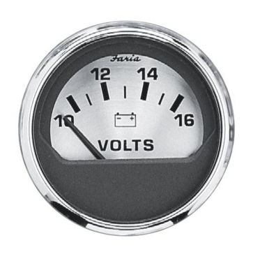 FARIA Spun Silver Series Voltmeter