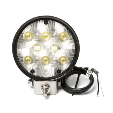 Wesbar Round Auxiliary LED Work Light Clear