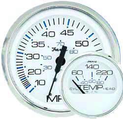 Faria White Tachometer, Series Chesapeake 707235