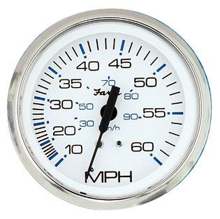 Faria Chesapeake white Stainless Steel Speedometer 707241