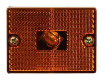 Feu de gabarit d'encombrement à réflecteur carré OPTRONICS Feu de position latéral, Réflecteur