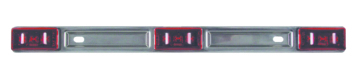Optronics Sealed 3-Piece LED Identification Light Bar Red