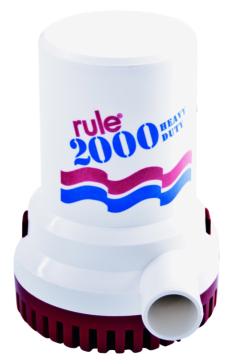 JABSCO RULE Heavy-Duty Commercial Pump, 2,000 GPH