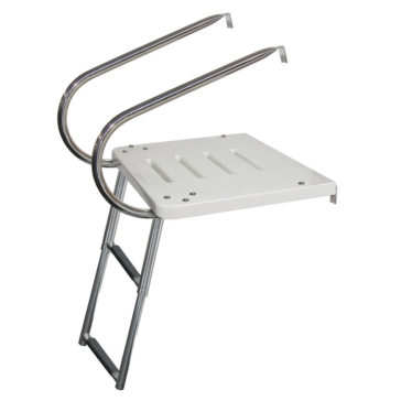 Telescopic - 2 KIMPEX Transom Platform 2 Arms and Telescopic Ladder