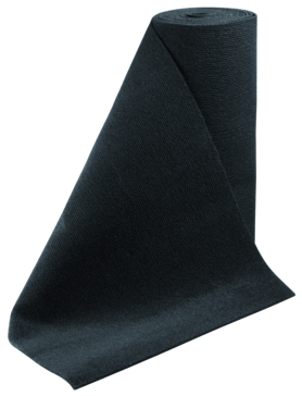 """C.E. SMITH  Roll Carpet, Black,18"""" x 18'"""