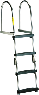 GARELICK Transom Pontoon Ladder Foldable - 2 to 4