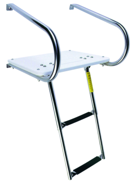 Garelick Swim Platform with Telescoping Ladder, under platform Telescopic - 2