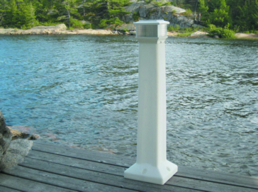 Dock Edge  Solar Sentinel Light White