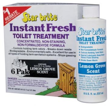 STAR BRITE Traitement fraîcheur instantané pour la toilette 6 x 8 oz
