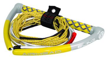 """Corde de sport nautique """"Bling 75'"""" AIRHEAD SPORTSSTUFF Corde de remorquage à 4 sections pour planche nautique"""