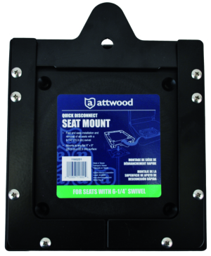 "ATTWOOD Quick Release Seat Mount on 8"" x 9"" surface"