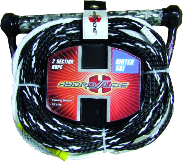 2 section ski tow rope HYDROSLIDE Two Section 75' Ski Rope