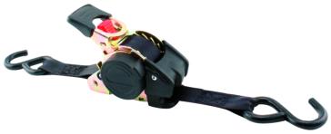 ERICKSON Black Re-tractable Tie-Down 6' - 1500 lbs
