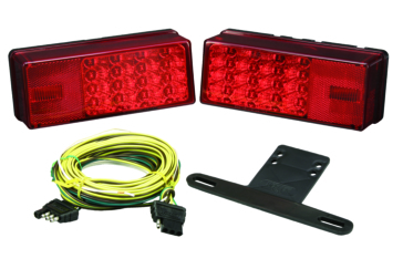 Wesbar LED Low Profile Trailer Light Kit Red