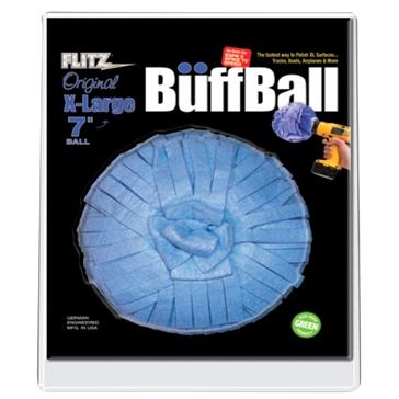"""FLITZ Tampon de nettoyage """"Buff Ball"""" de - XL (7 po)"""