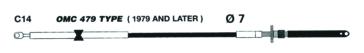 Câble de commande Johnson/ Evinrude - C14 UFLEX C14