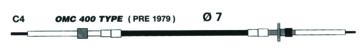 C4 UFLEX Johnson/ Evinrude Control Cables - C4