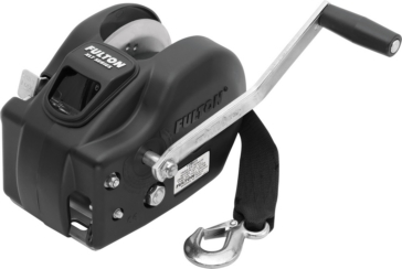 FULTON WESBAR 2-Speed Winch 20' Strap Hole