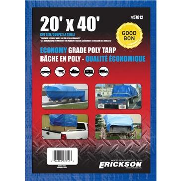 Bâches universelles ERICKSON 20' x 40' - Bleu
