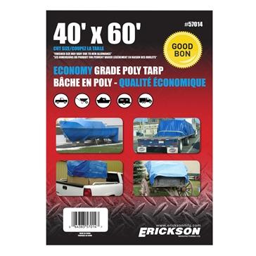 Bâches universelles ERICKSON 40' x 60' - Bleu