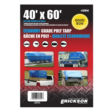 ERICKSON Bâches universelles 40' x 60'