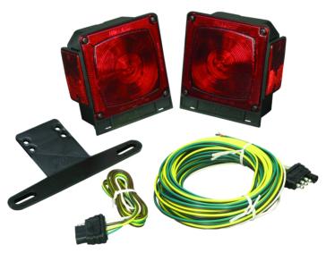 Wesbar Submersible Tail Light Kit Red