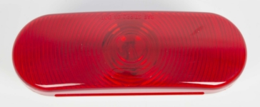 Wesbar Waterproof Oval Tail Light Lens Red