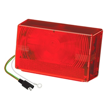 "Wesbar Submersible Tail Lamp for Trailer wider than 80"" Red"