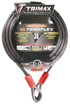 Extra measure of protection TRIMAX Multi-Use Lock Cable