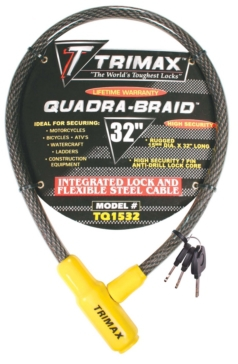 Trimax Cable Lock, 3 Keys Cable Lock - 723666