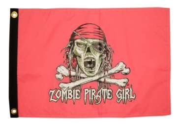 "TAYLOR MADE Drapeaux, Nylon ""Pirate Girl Zombie"""