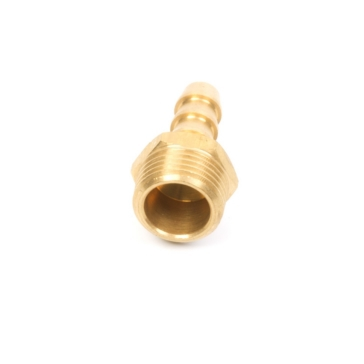Brass MALLORY Fuel Line Hose Barb, 9-38021