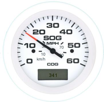 SIERRA GPS Speedometers - 60 MPH Boat - 781-683-060P