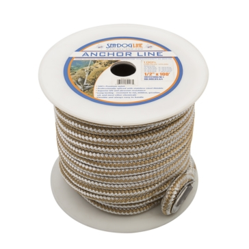"SEA DOG Ligne d'ancrage double en nylon 100' - 1/2"" - Nylon - Double"