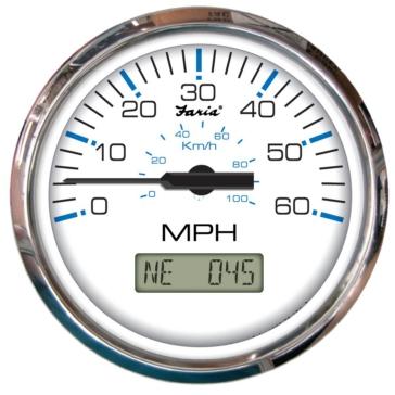 Faria 60 MPH Speedometer Boat