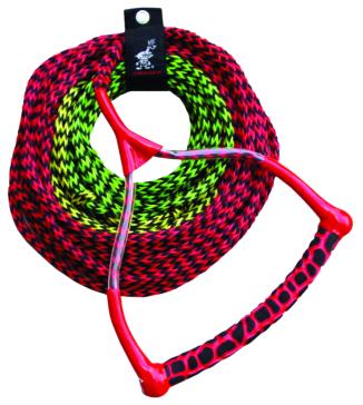 Câble de ski avec poignée arrondie en 3 AIRHEAD SPORTSSTUFF Corde de remorquage à 3 sections pour ski