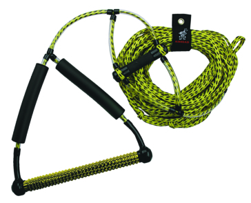 AIRHEAD Wakeboard Rope with Phat Grip TM 4 section wakeboard tow rope