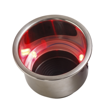 Porte-gobelet en acier inoxydable avec LED SEA DOG