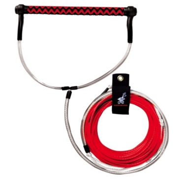 AIRHEAD Corde de planche nautique Dyneema Fusion rouge Corde de remorquage pour planche nautique