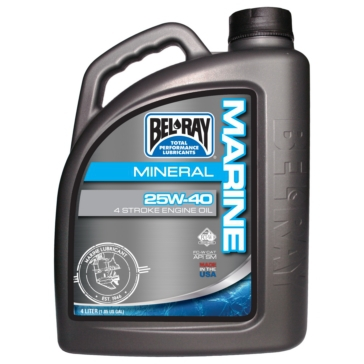 Bel-Ray 4-Stroke Mineral Engine Oil, 25W-40 25W40