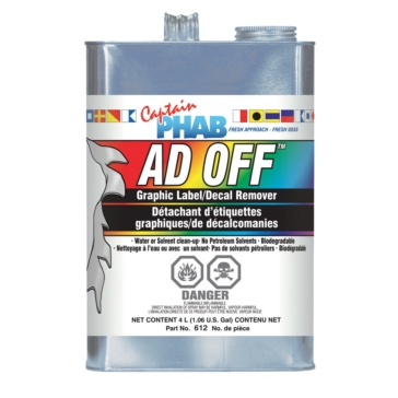 Captain Phab  Adhesive Remover Ad OFF 4 L / 1.05 G