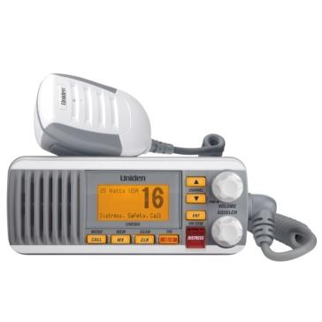 Uniden Radio marine à montage fixe UM385 Blanc, Gris