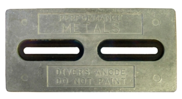 PERFORMANCE METAL Hull Plate - Diver's Anode